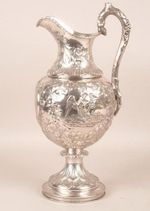 a silver trophy from 1858, presented to Colonel James Page, who served as President of Hibernia Fire Company