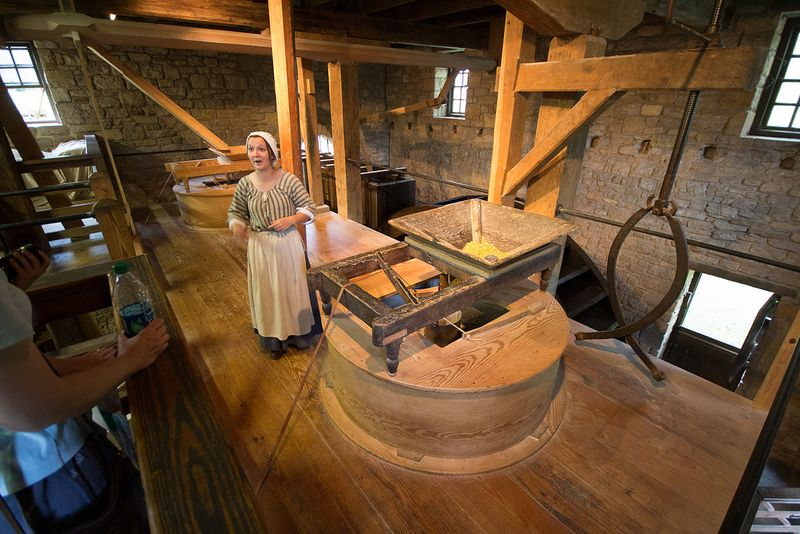 "George Washington's Distillery and Gristmill at George Washington's Mount Vernon Estate, Museum, and Gardens. Photograph by flickr user ""eclectic echoes"" (Eric Heupel), used under the creative commons license."