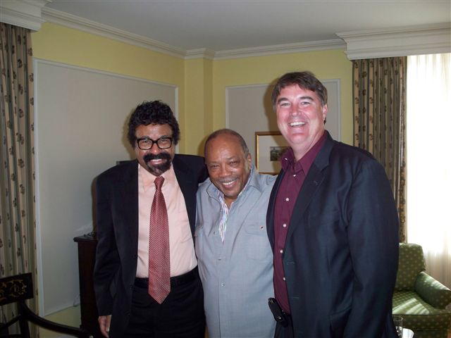 David Baker and Ken Kimery conducting jazz oral history interview with NEA Jazz Master Quincy Jones