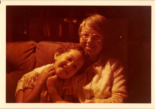 Me and Grandmere, about 1974