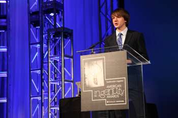 Jake Andraka at the Smithsonian American Ingenuity Awards. Photo via Smithsonian Magazine.