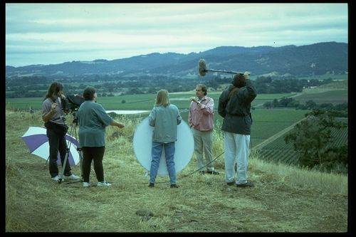 Field research often takes our curators to the ... field. of Curators Rayna Green and Paula Johnson interviewing a winemaker in Napa Valley, CA. 1997.