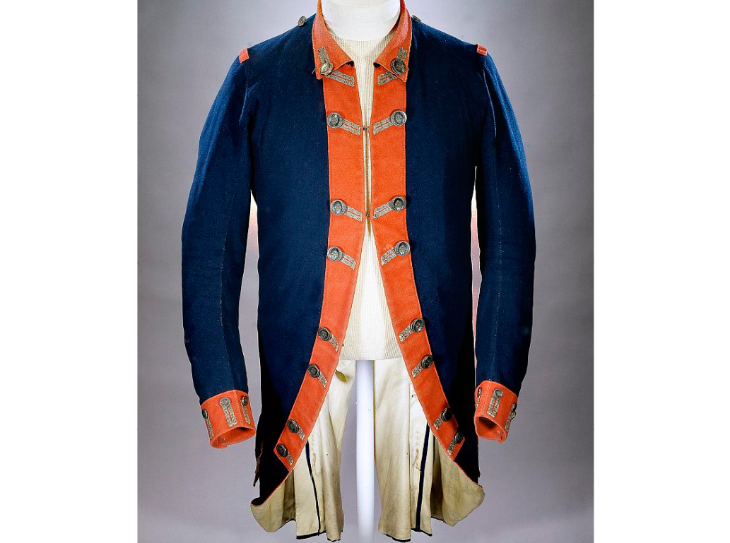 Continental Army uniform coat worn by Colonel Peter Gansevoort Jr. of ...