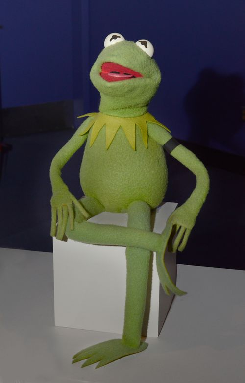 "Kermit the Frog is wearing a black armband in honor of the memory of Mrs. Henson. He is on display in ""American Stories"" on the museum's second floor."