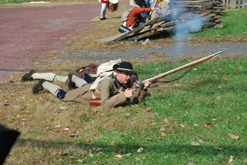 Me as a private in the Bergen County Militia