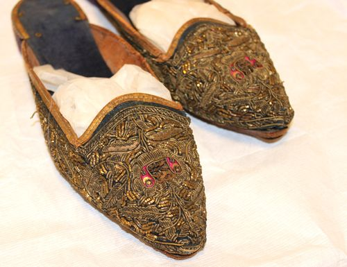 Millay's intricately detailed shoes