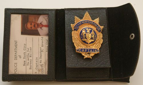 "Police badge from ""Barney Miller"" television show"