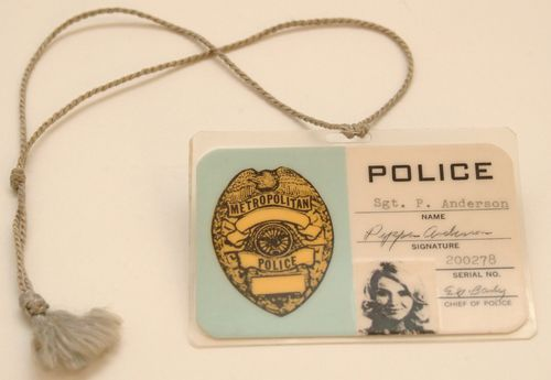 "Sgt. Pepper's badge from ""Police Woman"""