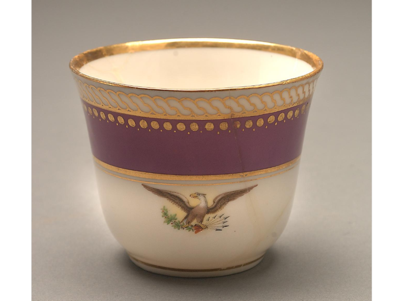 Just before departing for Ford's Theater for the last time, President Abraham Lincoln left this cup on a windowsill. A White House servant preserved it as a relic of that tragic night.