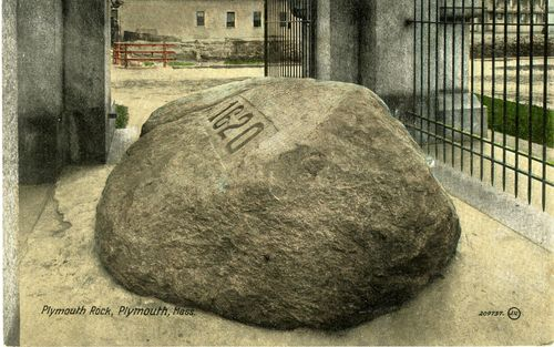In the early 1800s, a hammer was kept near Plymouth Rock for the pilgrim who had forgotten to bring one. By the end of the 19th century, what was left of the rock was fenced off within a memorial.