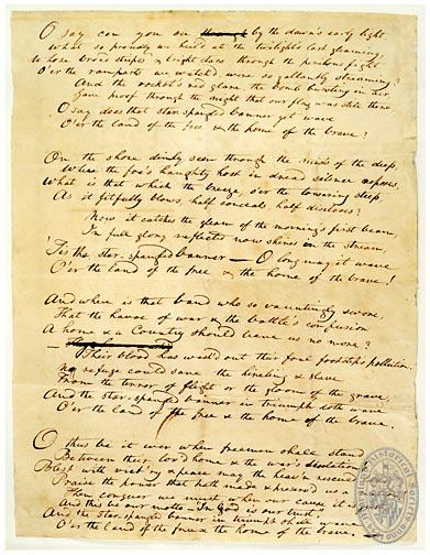 Star-Spangled Banner Manuscript at the Maryland Historical Society