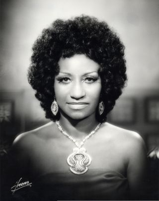 Portrait of Cruz with an Afro hairstyle, 1960s. Photo by Herrera Studios; courtesy of Omer Pardillo-Cid.