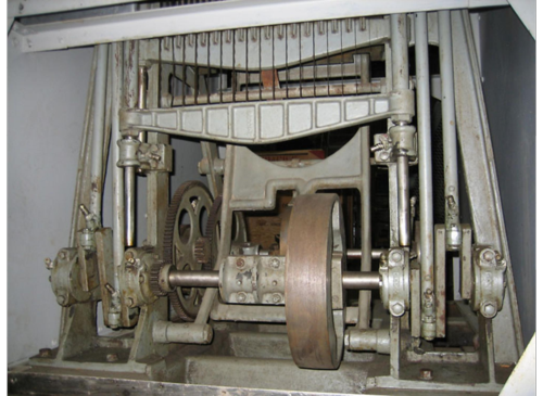 "On June 27, this Rohwedder bread-slicing machine, the second automatic bread-slicer ever created, went on loan to Chillicothe, Missouri, the ""home of sliced bread"""