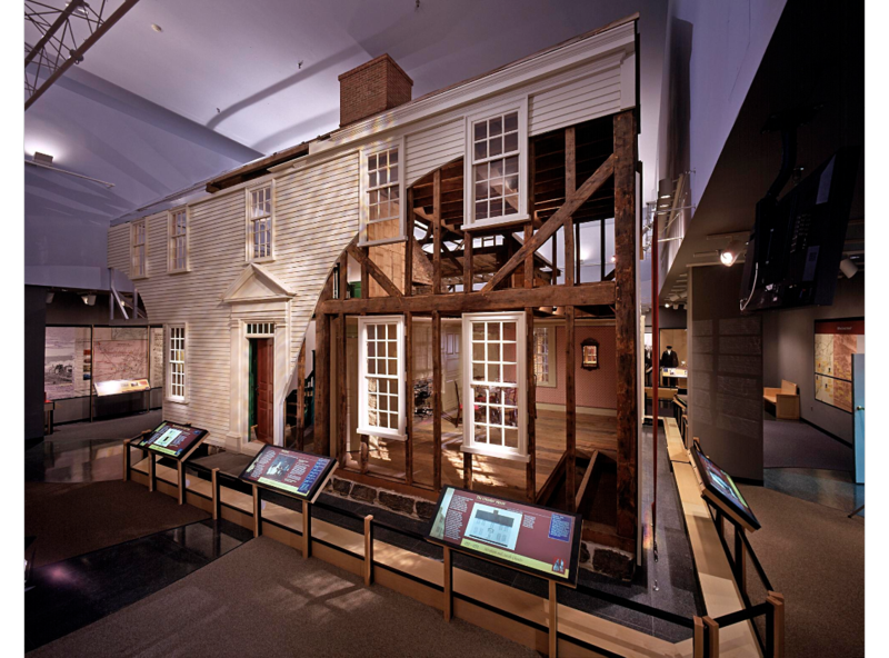 The largest artifact in the museum, this Georgian-style, 2 ½-story timber-framed house was built in the 1760s and stood at 16 Elm Street in the center of Ipswich, Massachusetts, until 1963 when efforts by Ipswich citizens saved it from the bulldozer.