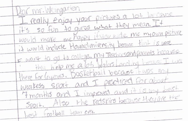 observation sample letter thank you student