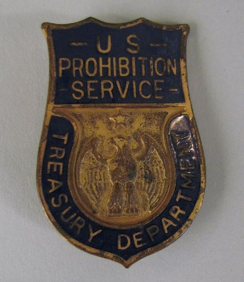 Prohibition agent's badge from the 1920s