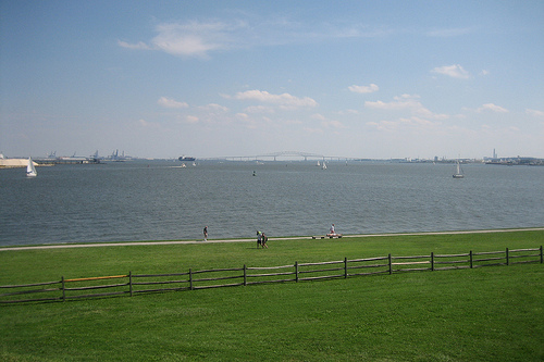 A view of the Baltimore harbor from Fort McHenry by Flickr user r.j.wagner