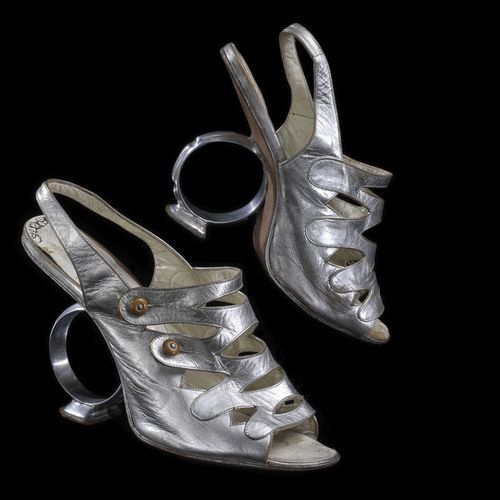 A pair of shoes worn by Celia Cruz in the museum's collection