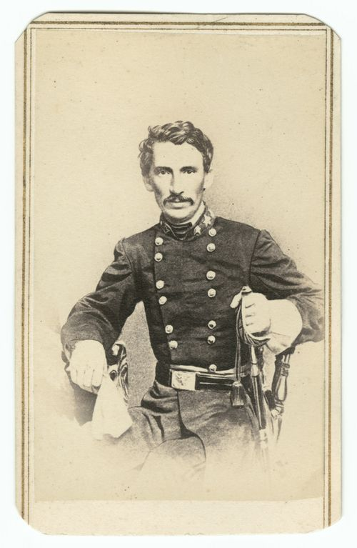 Photograph of Thompson in military attire, William Emerson Strong Photograph Album, David M. Rubenstein Rare Book & Manuscript Library, Duke University