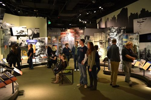 "Visitors explore ""Price of Freedom: Americans at War"""