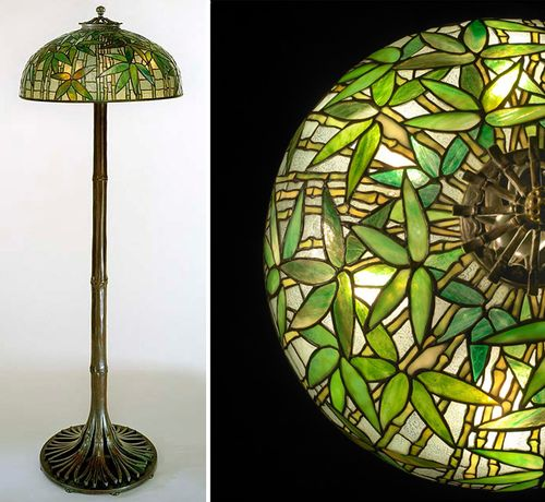 Tiffany lamp and shade detail, 1889-1920