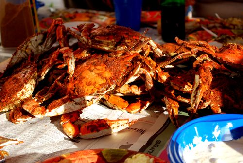 A crab feast, by Flickr user enigmachck1 via the Creative Common's license