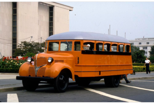 This bus carried rural children to the Martinsburg, Indiana school in the 1940s.