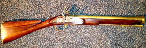 A reproduction blunderbuss musket often helps museum visitors envision life on a slave ship