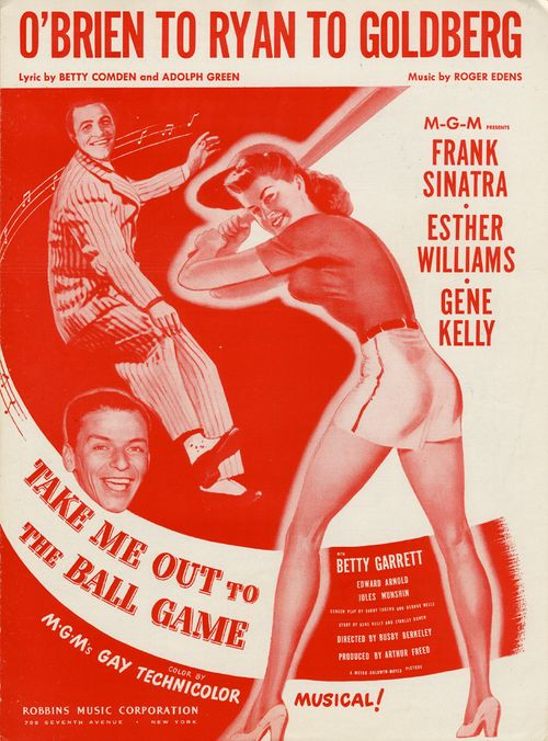 "Sheet music cover for ""Take Me Out to the Ball Game"". Sam DeVincent Collection of Illustrated American Sheet Music, ca. 1790-1980, Archives Center, National Museum of American History."