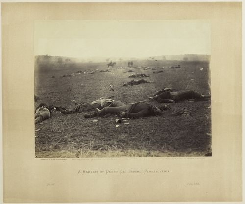 A Harvest of Death, Gettysburg, Pennsylvania, from Gardner's Photographic Sketchbook of the War.