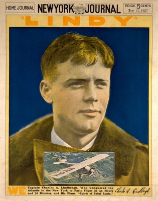 Portrait of aviator Charles Lindbergh by an unidentified artist. Collection of the National Portrait Gallery, NPG.97.144