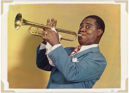 Photo: Louis Armstrong, National Portrait Gallery, Smithsonian Institution; gift of Elsie M. Warnecke