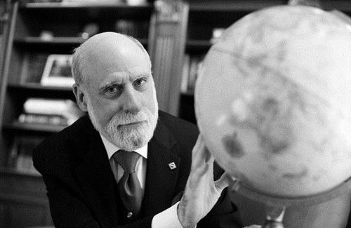 "Vint Cerf won the Turing Award in 2004 with Bob E. Kahn for ""pioneering work on internetworking."" c: Peter Badge/Typos1 in cooperaton with the Heidelberg Laureate Forum – all rights reserved, 2013"