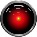 "HAL 9000, a Heuristically programmed ALgorithmic computer, from ""2001: A Space Odyssey,"" via Wikimedia Commons"