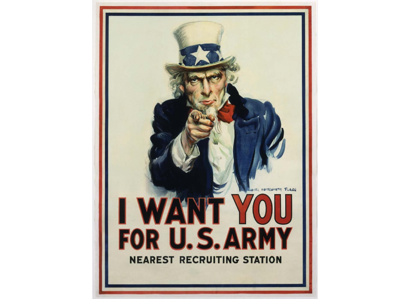 I Want You For US Army 1917 James Montgomery Flagg Chromolithograph
