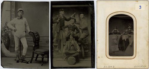 Three silly tintype photos from our Photographic History Collection