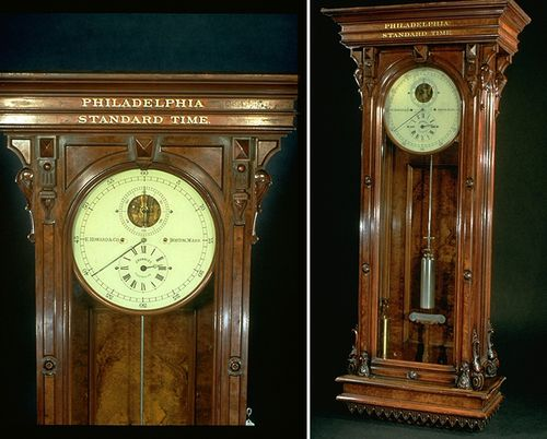 "clock from before Standard Time—clock would have been set to ""Philadelphia Standard Time"" before 1883."