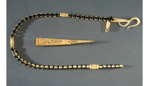 Lanyard and toothpick made by a Confederate soldier