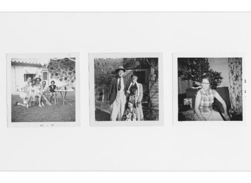 1950s-1960s backyard snapshots of the exact variety that Shannon Perich explores for layers of meaning