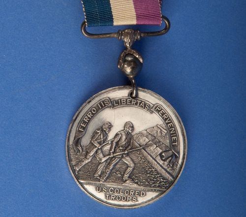 U.S. colored troops medal, commissioned by General Benjamin Butler to honor black troops under his command
