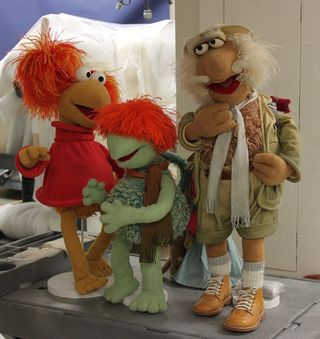 Red Fraggle, Boober Fraggle, and Traveling Matt will look familiar to children and parents of the 1980s, when the show Fraggle Rock aired on television