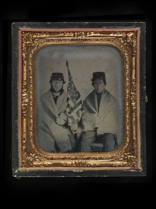 We rediscovered this ambrotype photograph of two young Union soldiers in our Photographic History Collection while doing research for the book
