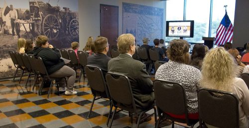 Students in Oklahoma watch our National Youth Summit on the Dust Bowl