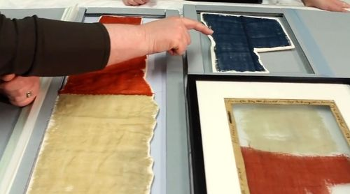 "Fragments of the Star-Spangled Banner. The flag is the subject our first ""Founding Fragments"" video."