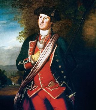 This oil painting by Charles Willson Peale is the only authenticated pre-Revolution portrait of Washington. It depicts him in 1772 in his Virginia Regiment colonel's uniform, which he wore during the French and Indian War. Image courtesy Lee Chapel & Museum, Washington & Lee University.