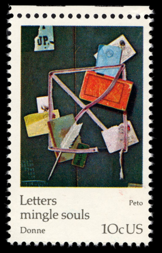 "10 cent postage stamp from 1974 featuring ""Old Scraps"" by John Peto. Image from the National Postal Museum."