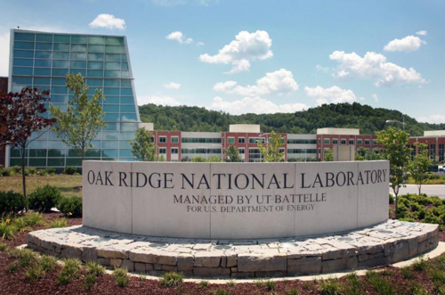 The entrance to Oak Ridge National Laboratory. Part of the Department of Energy, the Lab is run by a contractor.