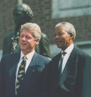 President Clinton with Nelson Mandela at Independence Hall, Philadelphia, Pennsylvania, July 199. Public Papers of the Presidents of the United States: William J. Clinton (1993, Book I).