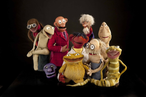 "A five-minute television show seen in Washington, D.C., between 1955 and 1962, ""Sam and Friends"" featured Jim Henson's earliest puppets. This group has the first version of Kermit, not yet a frog but a lizard-like creature, and also includes Pierre the French Rat, Henson's oldest surviving puppet."