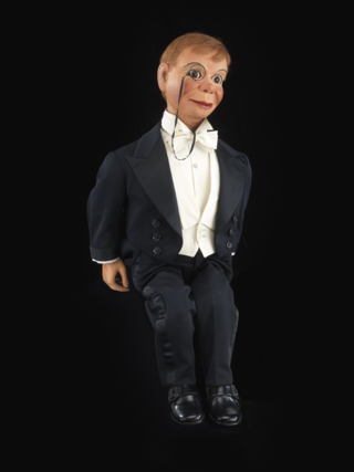 Edgar Bergen and his wooden alter ego Charlie McCarthy enjoyed success as one of the great comedy teams in show business. This puppet was created in 1922.